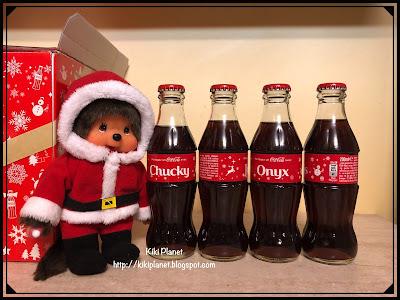 kiki monchhichi coca cola noel christmas collection