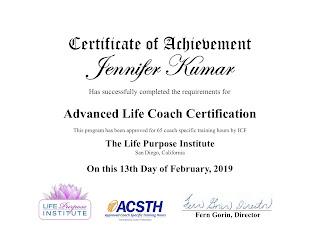 Life Coaching Certificate 2019