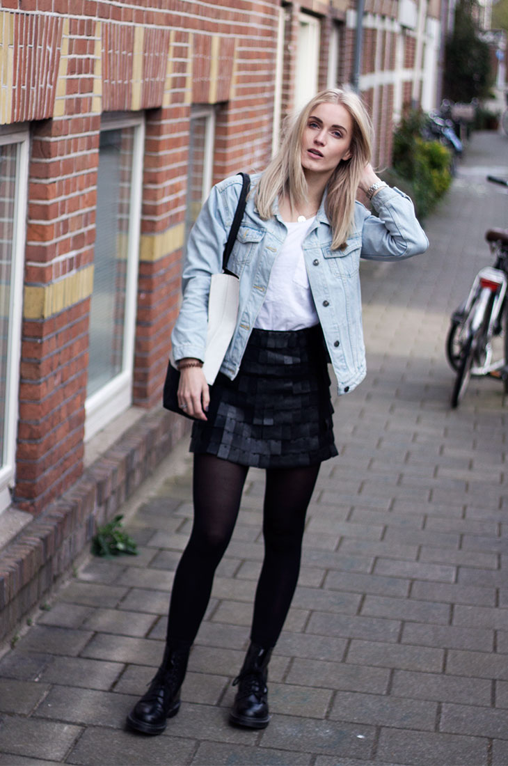 87d573edb0 Denim Jacket Black Skirt