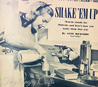 malteds, milkshakes, 1940s recipe, calling all girls magazine