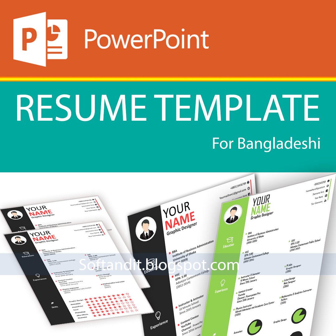 PowerPoint Clean Modern Resume Template For Job Applicant