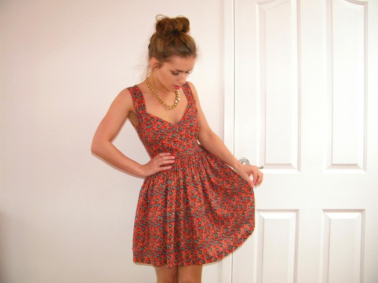 MinkPink Red Floral Dress
