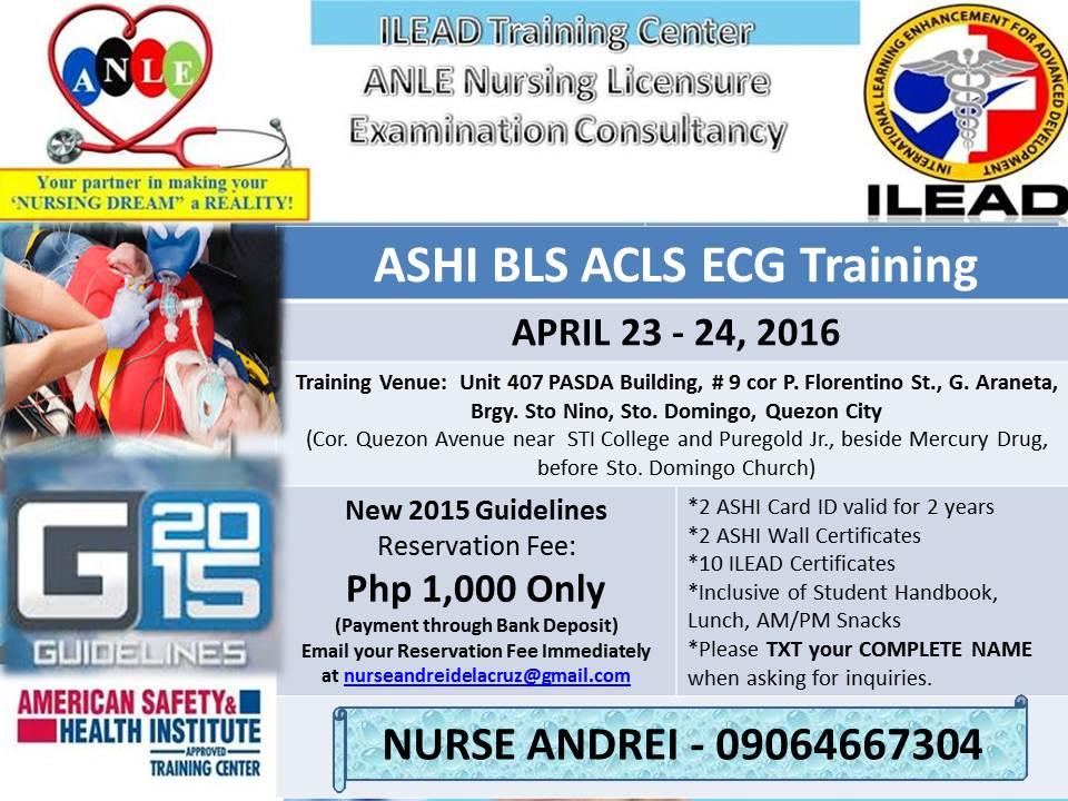 Its Rndrei Ashi Bls Acls Ecg Training On Quezon City April 23 24