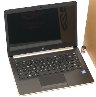 Laptop Baru HP 14-ck0011TU Gold di Malang