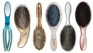 Ionic and boar paddle hair brushes