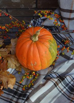 Hermine Throw, Fall Display, Pumpkins