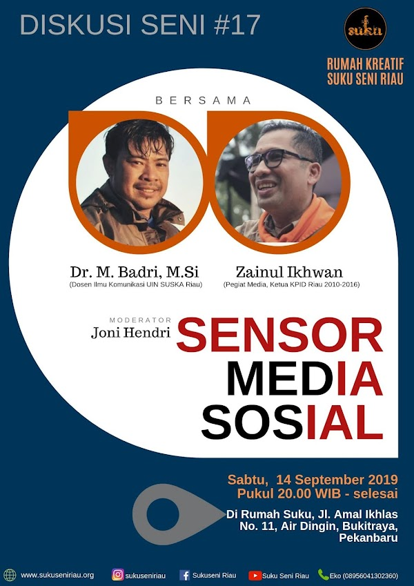 Diskusi Seni #17 akan Bahas Sensor Media Sosial