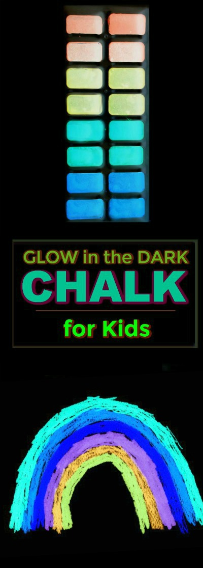 SUPER SUMMER FUN: Make chalk that glows-in-the-dark! (only 3 ingredients!)