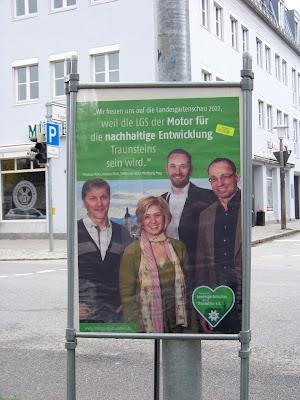 Thomas Miller, Andrea Blösl, Steffen Reuther zur Landesgartenschau Traunstein