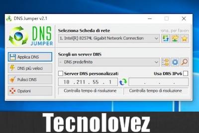 DNS Jumper - Programma per di cambiare indirizzo dei server DNS in pochi secondi