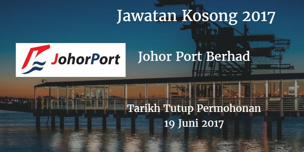 Jawatan Kosong Johor Port Berhad 19 Juni 2017