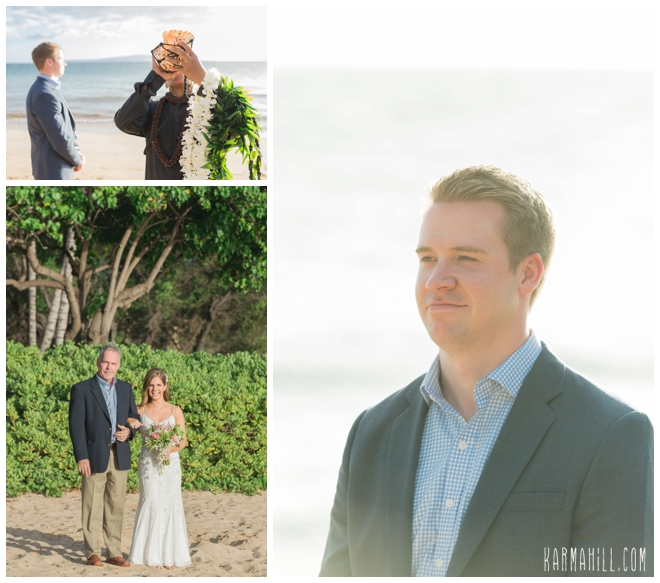 Maui beach wedding photography