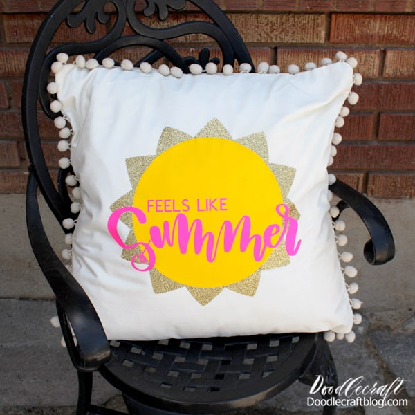 Then decorate the porch or patio with this cute Summery pillow for everyone to enjoy!