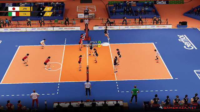 Spike Volleyball Gameplay Screenshot 1