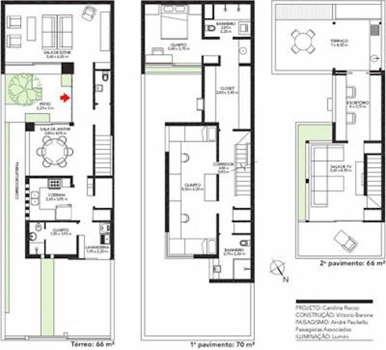 Desain denah rumah minimalis dengan lebar 6 meter