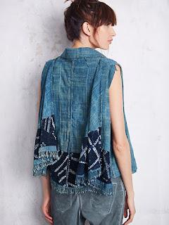 Batik On Denim Model Baju Batik Wanita Terbaru 2018