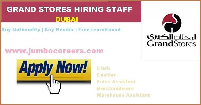 Grand Store Dubai Hiring Supermarket Staff - Latest Jobs in