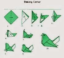 Cara Membuat Burung  Camar dari  Kertas  Origami Cara
