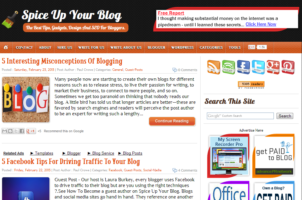 Top 5 Best SEO Blogger Templates 2016 (Spice Up your Blog Template)