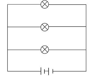 gambar rangkaian paralel lampu