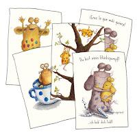 Kinderbuchillustration, Pumpf, Loni lacht, niedlich, Kommoß, postkarten, Glückspumpf