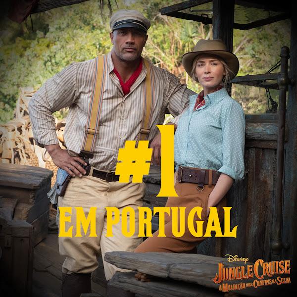 JUNGLE CRUISE – A MALDIÇÃO NOS CONFINS DA SELVA - #1 NO FIM DE SEMANA DE ESTREIA EM PORTUGAL
