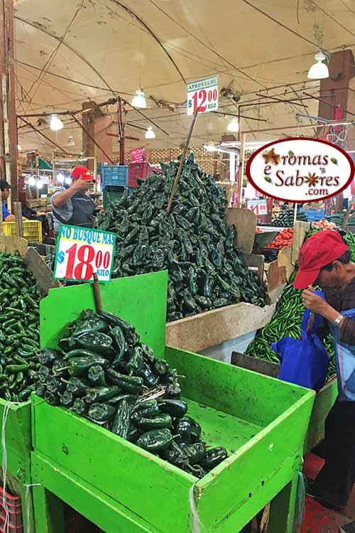 Jalapeno em mercado no México