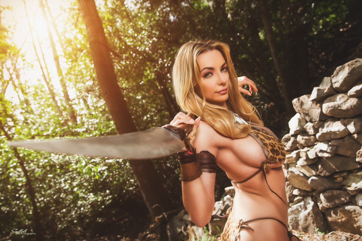 Lindsey Pelas  Jungle Girl Photoshoot By Mike Saffels -7804