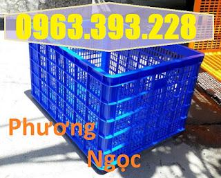 Sọt nhựa kéo hàng 5 bánh xe, sọt nhựa công nghiệp, sóng nhựa HS0199, sóng nhựa đựng trái cây