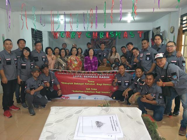 JIPS Gelar Natal Bersama Panti Jompo dan CS Pemprov Sulut