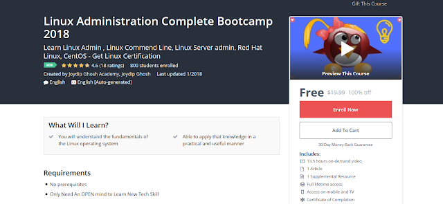 Linux Administration Complete Bootcamp 2018