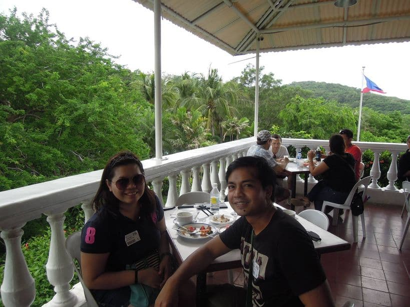 Lunch buffet at Corregidor Island