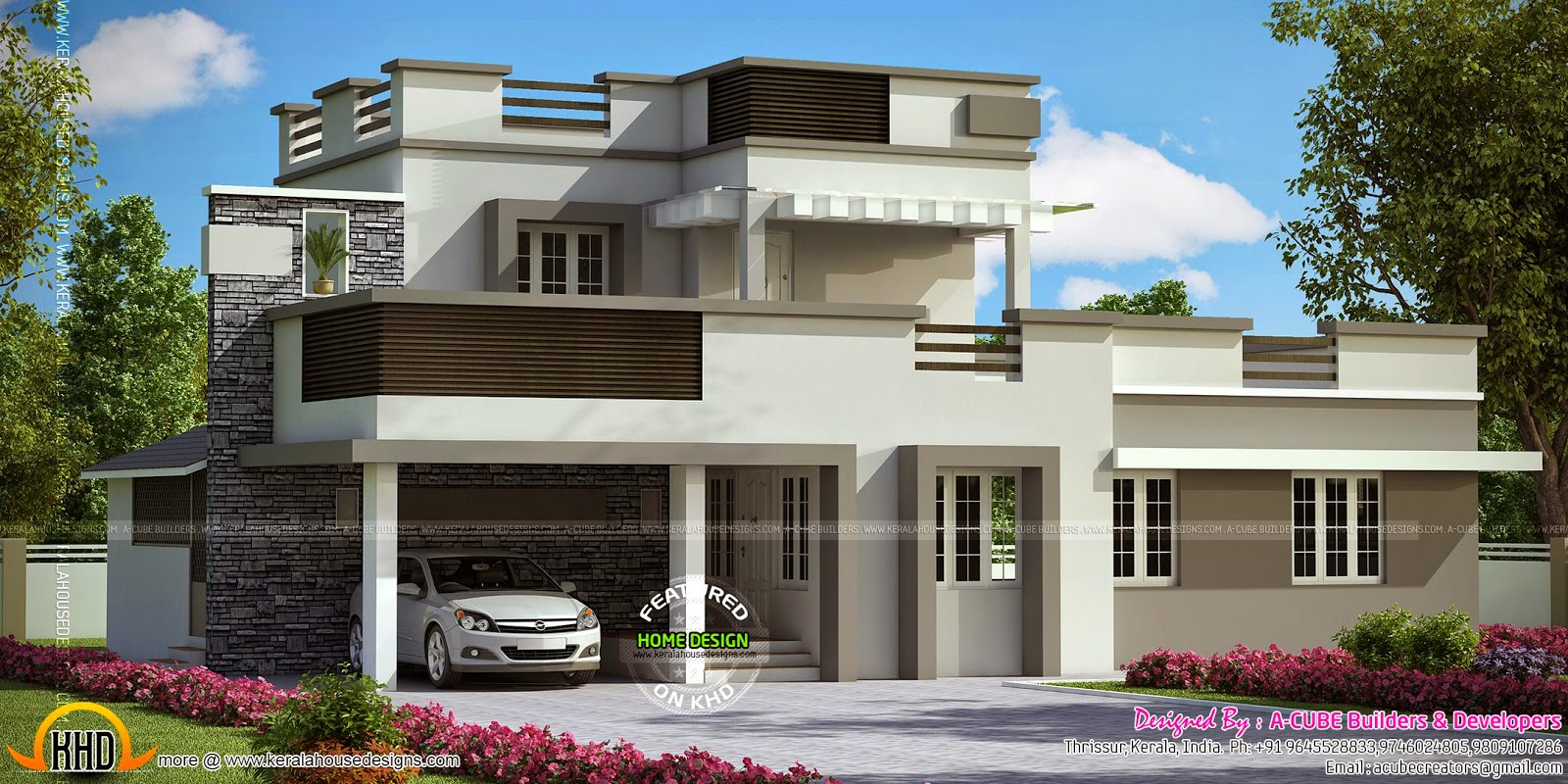Fabulous Two House Designs In Same Square Feet Kerala Home Design And Largest Home Design Picture Inspirations Pitcheantrous