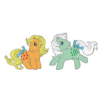 My Little Pony Icon Heroes Applejack and Minty Retro G1 Enamel Pins
