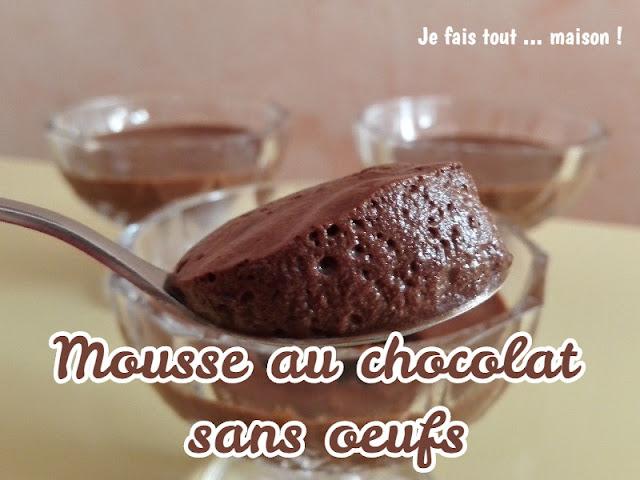 Mousse au chocolat vegan sans oeufs au jus de pois chiches