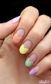 Nail Art Candy Heart Tips
