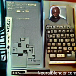 ZX81 and Michael K Williams generated by Neurlblender AI