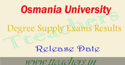 Osmania University degree supply result 2016 release date exam results