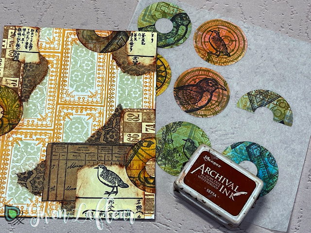 Project #2: Collage with DIY Stickers Tutorial Step 4 - Gwen Lafleur