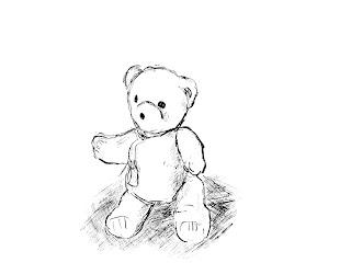 Nalle / Teddy bear - digital drawing
