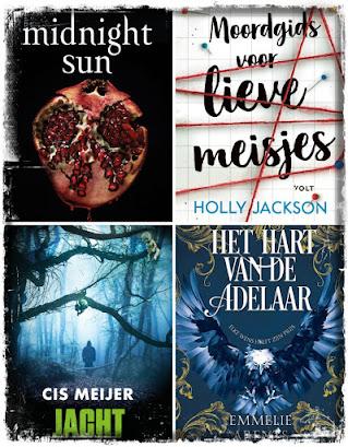 Stephenie Meyer, Midnight Sun, Holly Jackson, Moordgids voor lieve meisjes, Cis Meijer, Jacht, Emmelie Arents, Het hart van de adelaar
