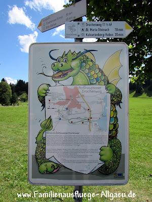 Informationstafel zum Drachenweg