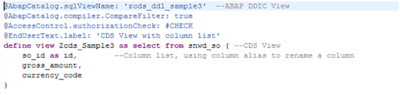 Core Data Services in ABAP