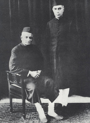 Motilal Nehru and Jawaharlal Nehru in 1929