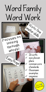 Word Family worksheets from TeachMagically