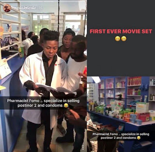 Reekado Banks makes debut in Nollywood as Pharmacist