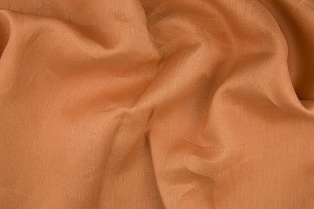 Copper Handkerchief Linen Fabric