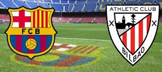 موعد مباراة برشلونة واتلتيك بلباو في نهائي كأس ملك اسبانيا والقناة المفتوحة الناقلة
