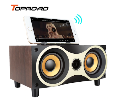 TOPROAD XM6 Portable Wooden Wireless Speaker