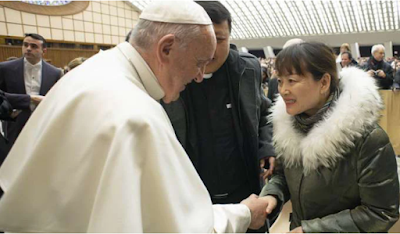 Chinese lady and Pope